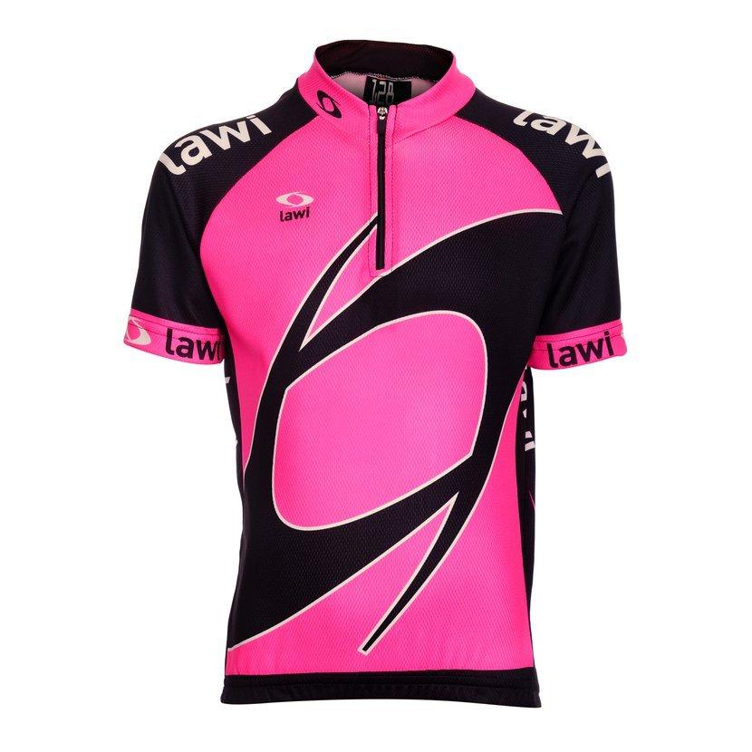 88facbae9 Dětský cyklistický dres Fluo Girl velikost 116 ve výrazném růžovém  provedení. Je vyroben z příjemného funkčního materiálu Rastr.